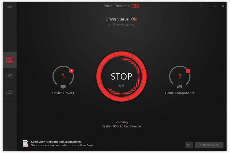 Screenshot of Driver Booster v5 in Windows 8
