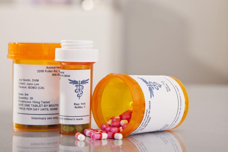 Bottles of prescription drugs.
