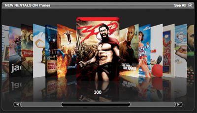 iTunes video rentals, step 1