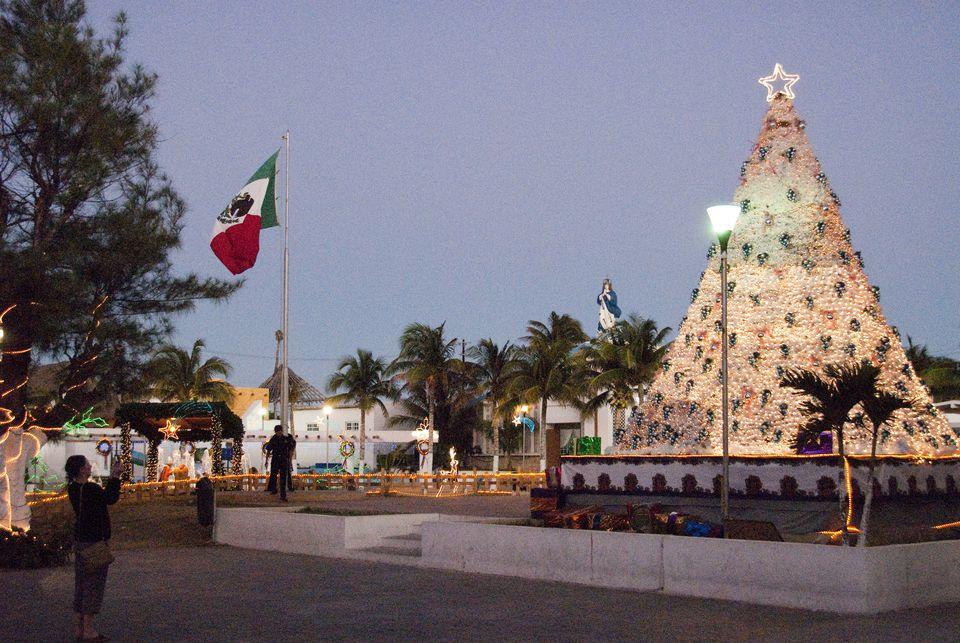 Christmas tree, Isla Mujeres, Mexico