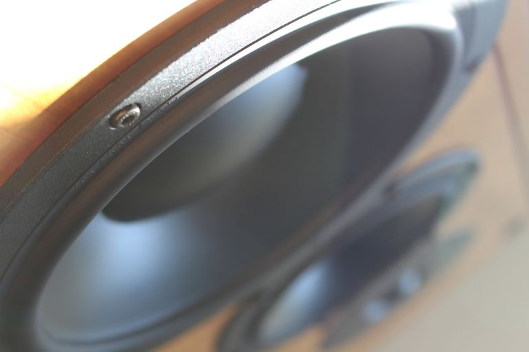 Close up of speakers.