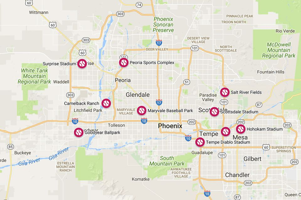 The Cactus League Baseball Stadiums of Greater Phoenix