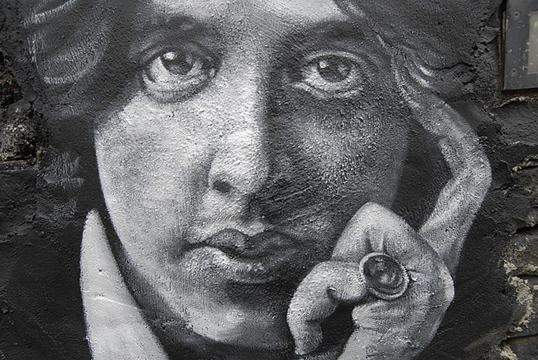 Oscar Wilde painted portrait