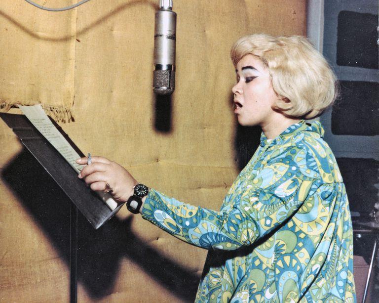 Etta James recording at Fame Studios