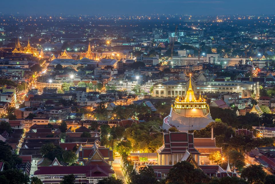 View of Bangkok, Thailand's Royal Palace