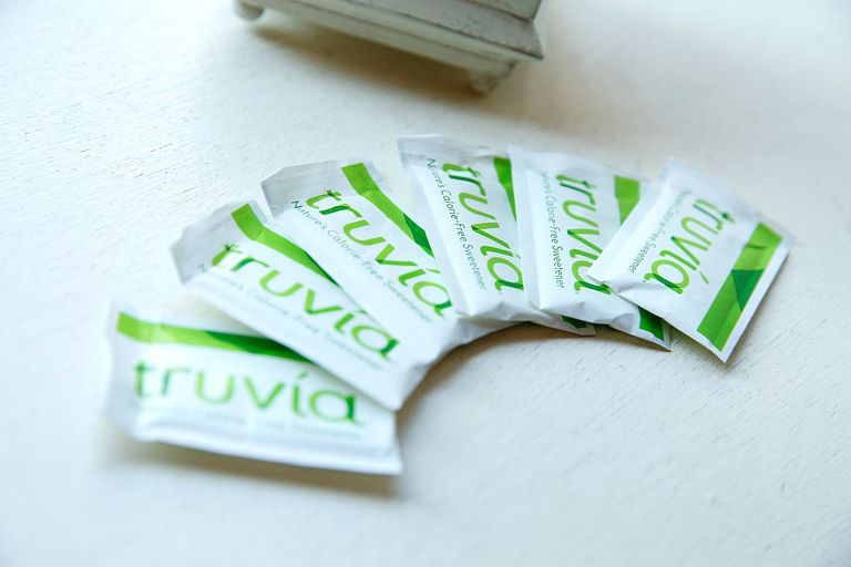 truvia packets on a table