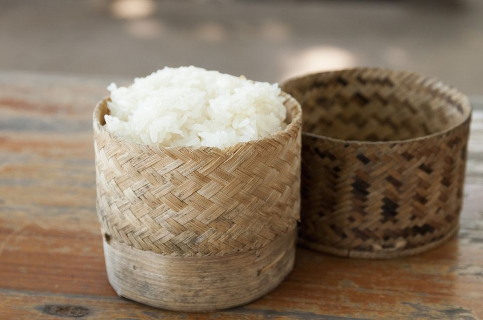 A thip khao full of sticky rice
