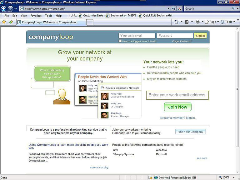 Business Social Network - CompanyLoop