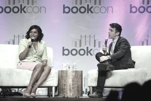 Mindy Kaling and B. J. Novak at BookCon