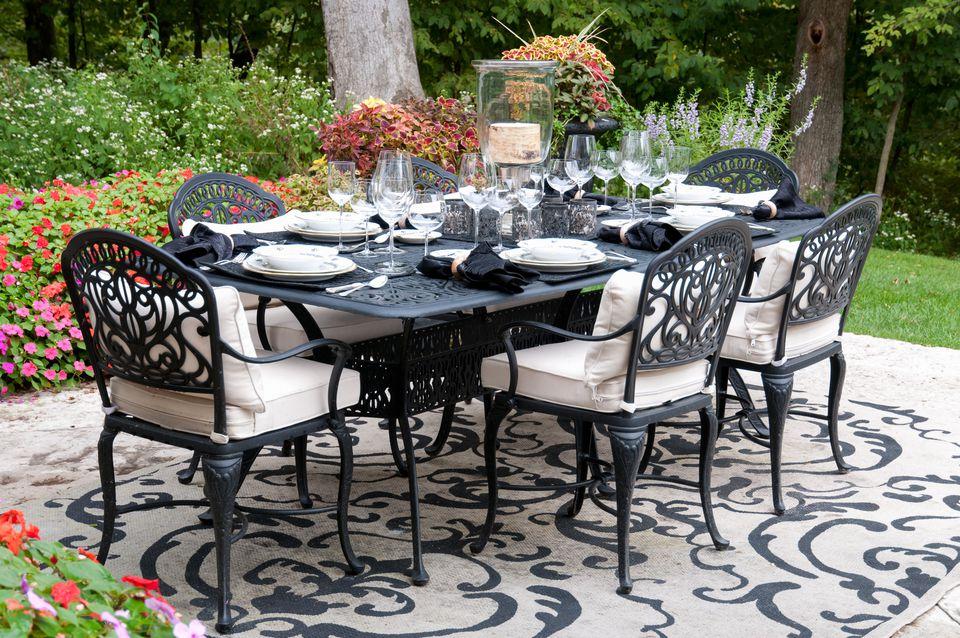 cast iron dining set