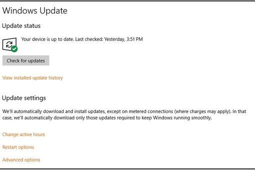 Update Windows 10 Screen
