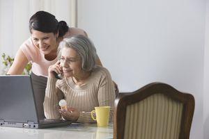 Woman refilling drug prescription over the phone