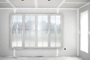 Drywalled room in home