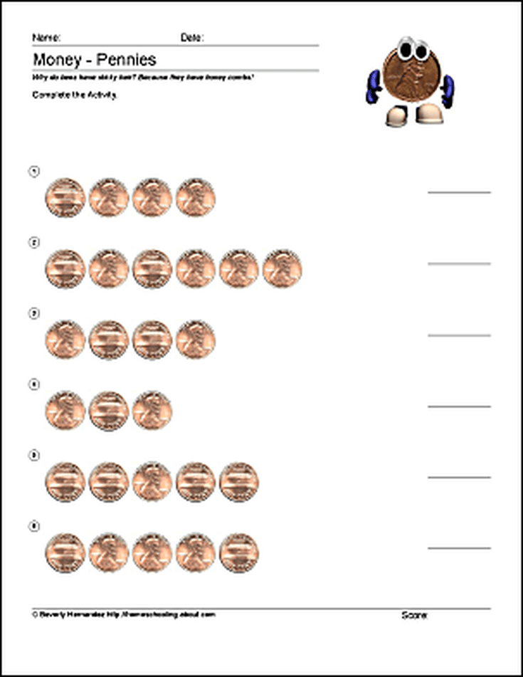 Math and Money Worksheets Counting Dimes – Money Counting Worksheets