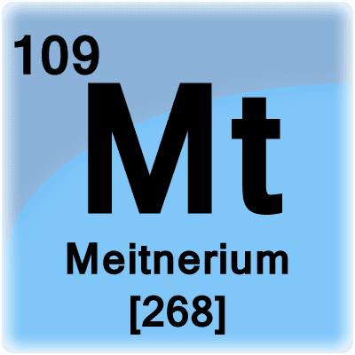 Meitnerium or element 109 is a synthetic radioactive metal.