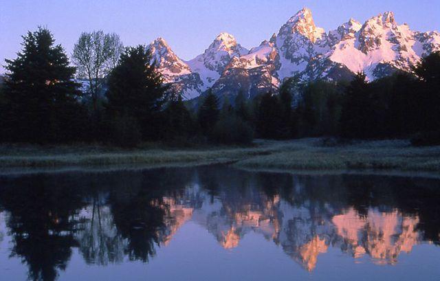 Teton Range Reflection at Schwabachers Landing