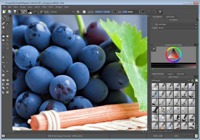 Screenshot of Krita Desktop
