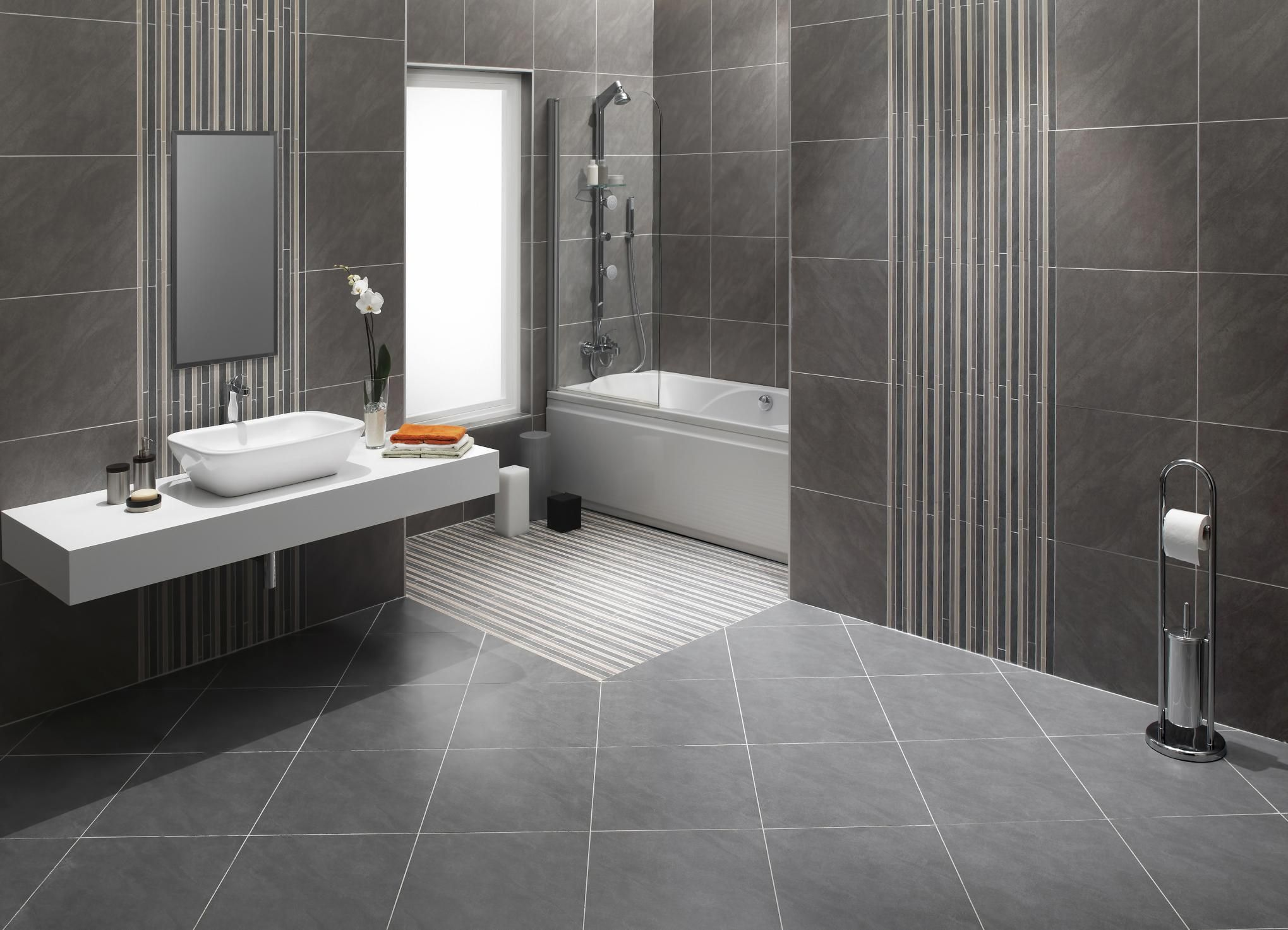 Natural stone bathroom floor should you install it for Best product for cleaning bathroom tiles