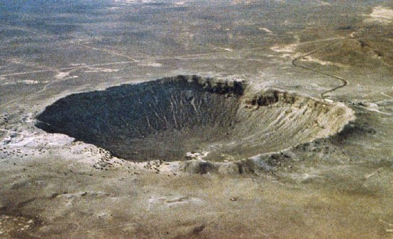 Meteor impact crater