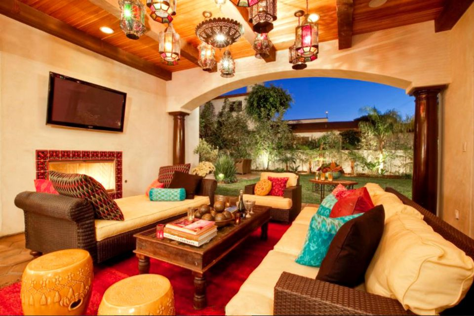 moroccan style outdoor room. 50 Outdoor Living Room Design Ideas