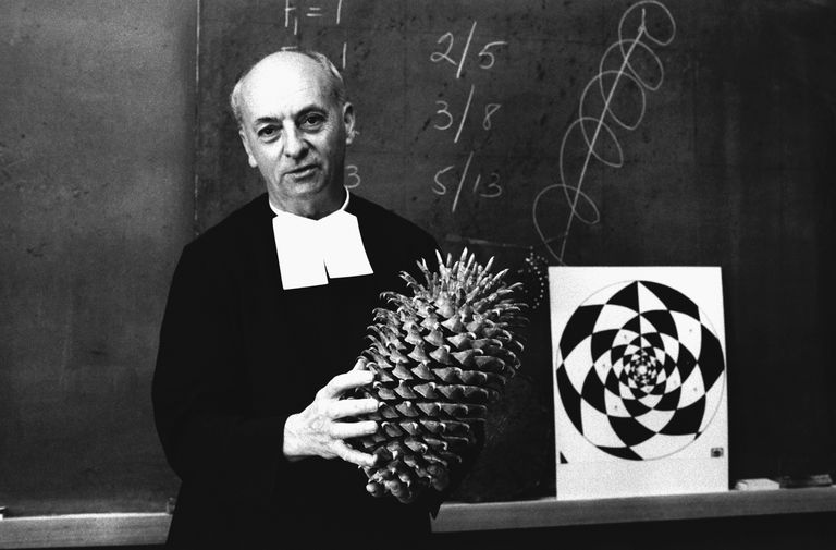 Brother Brousseau Holds Pinecone