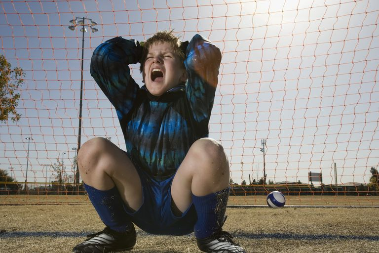 Frustrated soccer player thinks of quitting