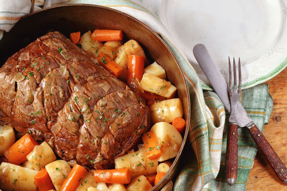 A Pot Roast with Vegetables