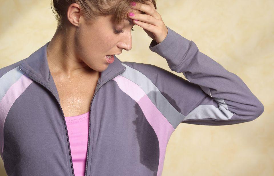 Underarm sweat stain