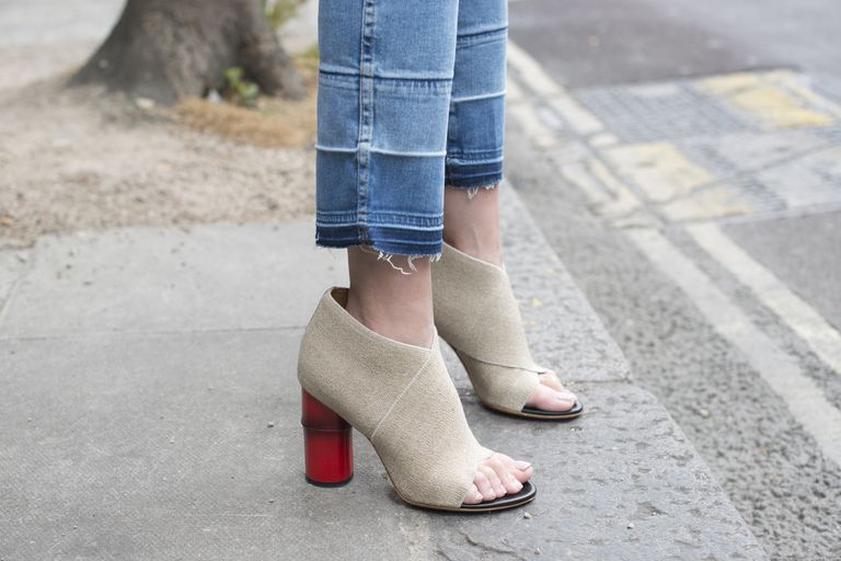 Cropped jeans and ankle boots