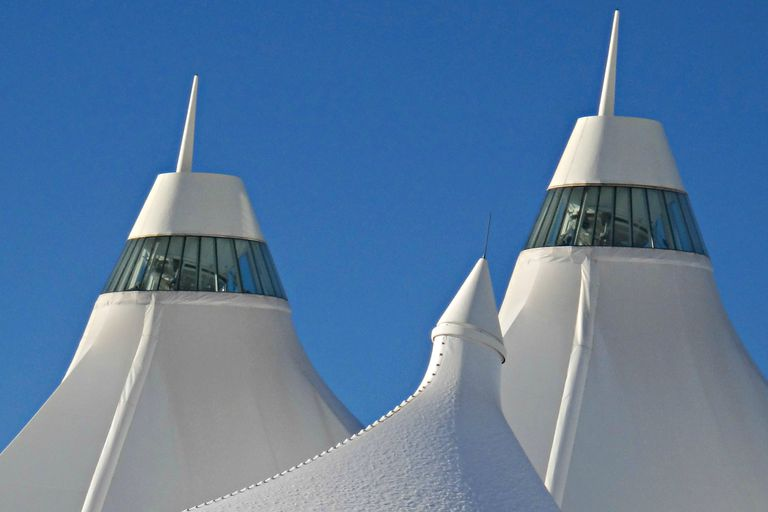 Peaked Roof of the Denver Airport Terminal