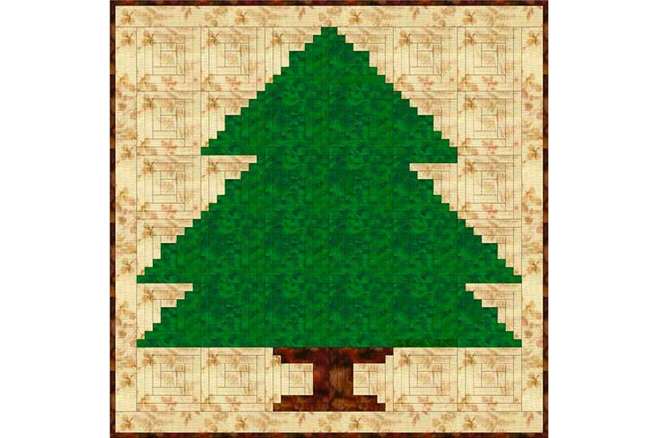Log Cabin Christmas Tree Quilt