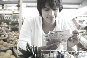 Shopper Using Coupons