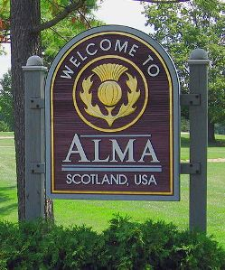 City of Alma Sign
