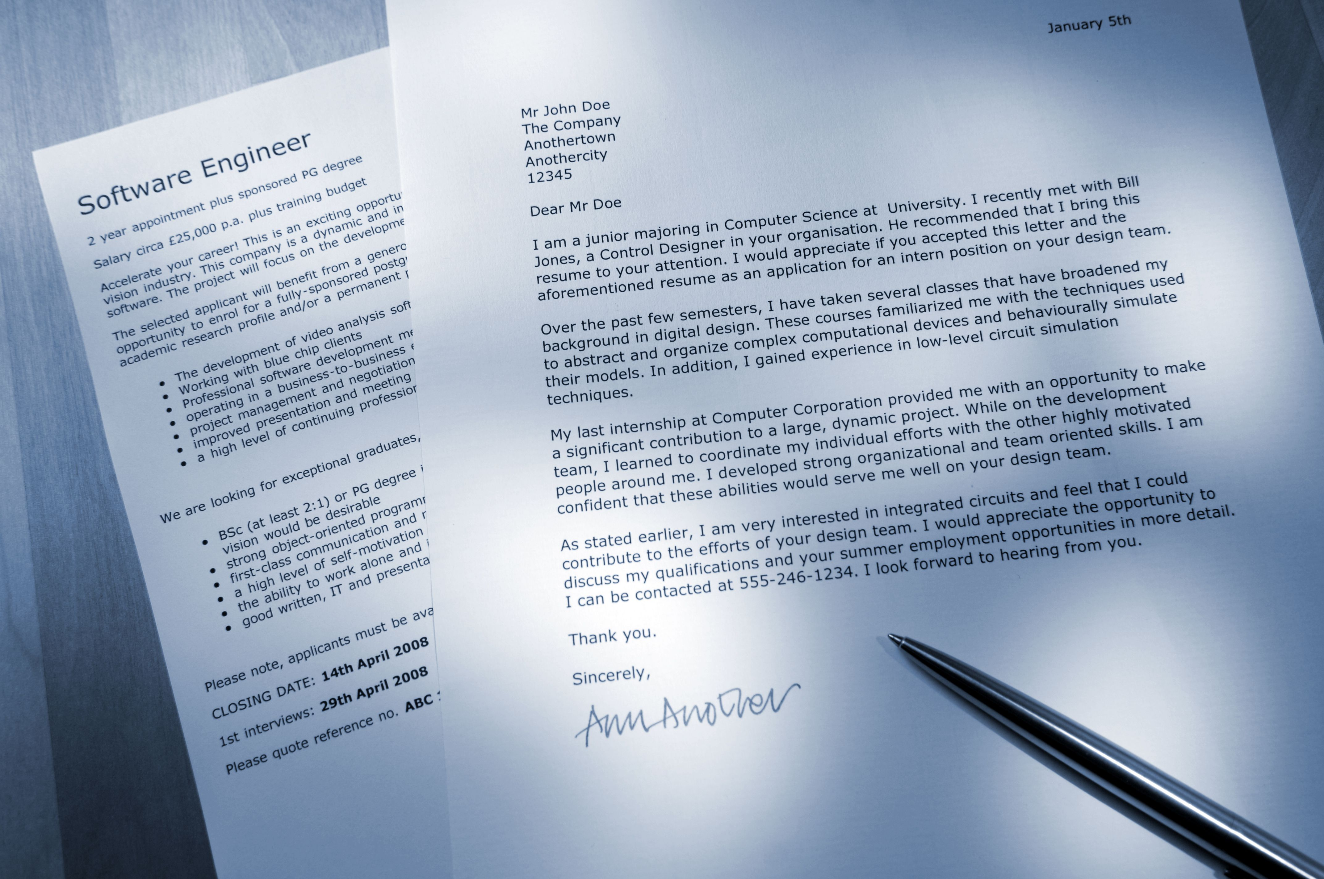 how to write a cover letter that matches the job - Application Cover Letters
