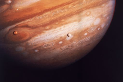 Jupiter's satellites and red spot