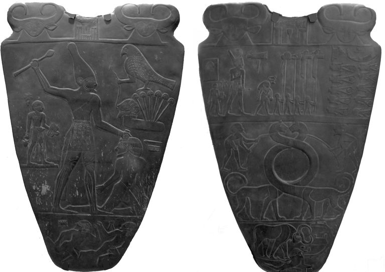 Picture of the Narmer Palette from Ancient Egypt