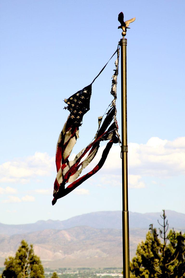 Burnt American Flag