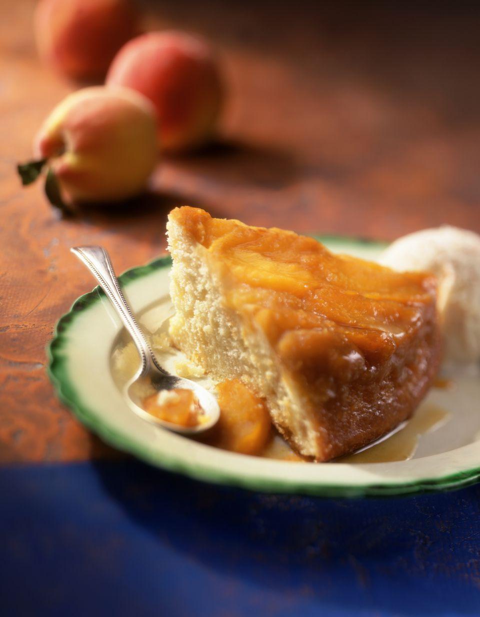 Caramelized Peach Upside Down Cake