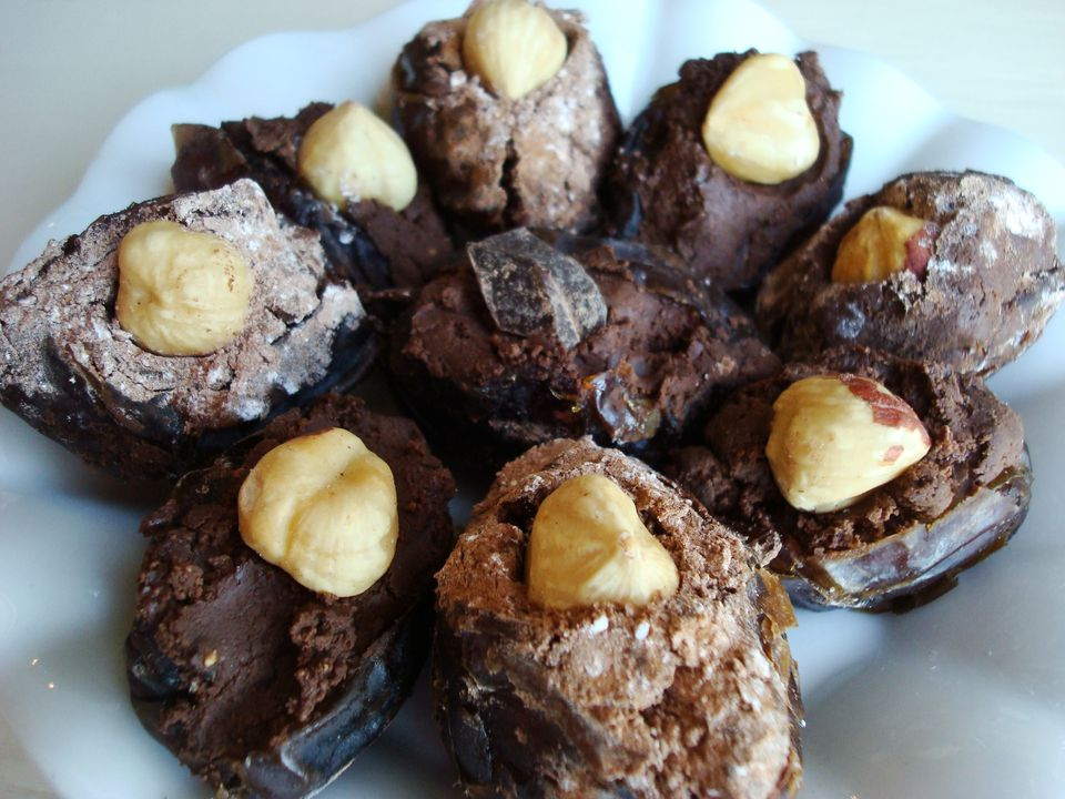 Chocolate Hazelnut Stuffed Dates