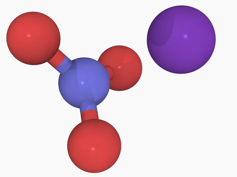 Potassium nitrate molecule