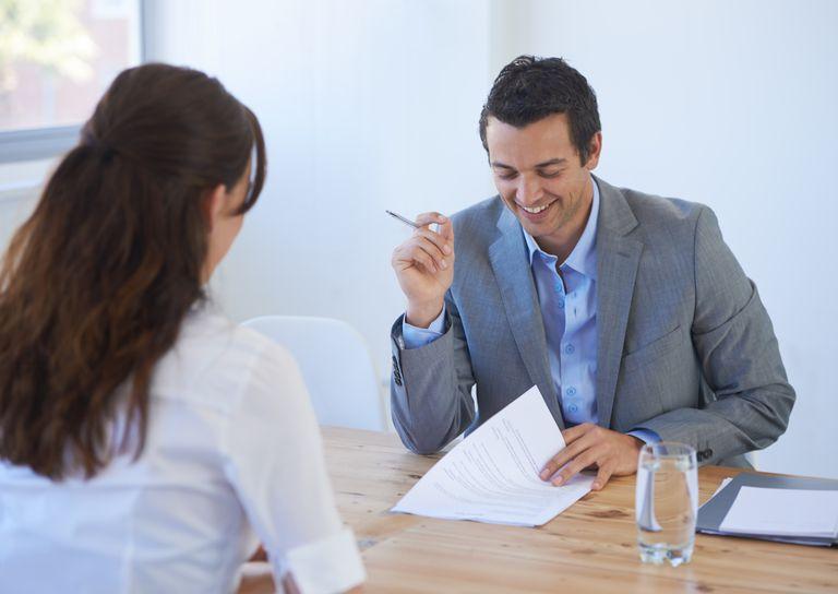 recruiter reviewing resume