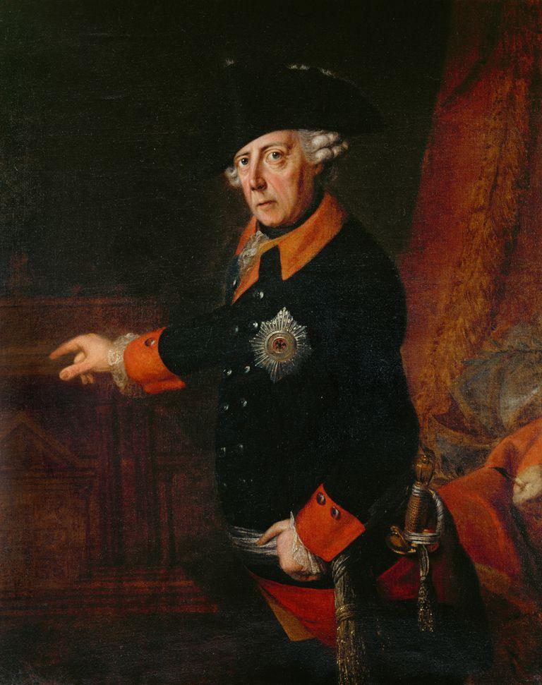 Portrait Koenig Friedrich II. von Preussen by Heinrich Christian Franke
