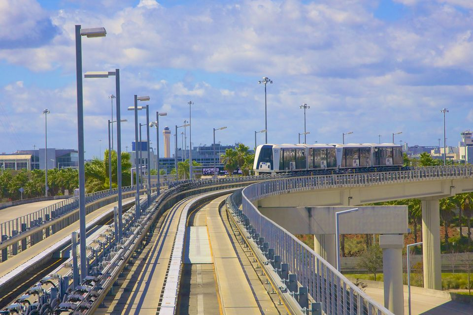 MIA Mover at Miami International Airport.