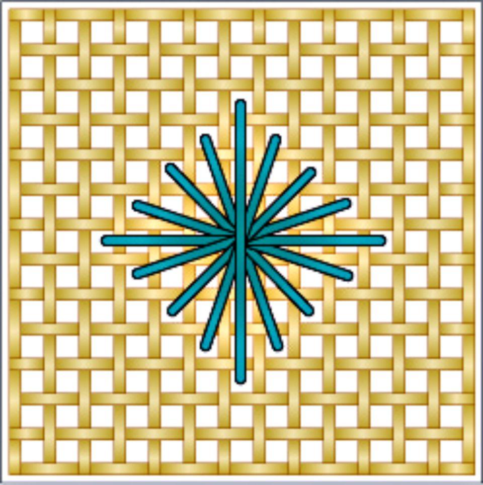 Rhodes Diamond Stitch Diagram