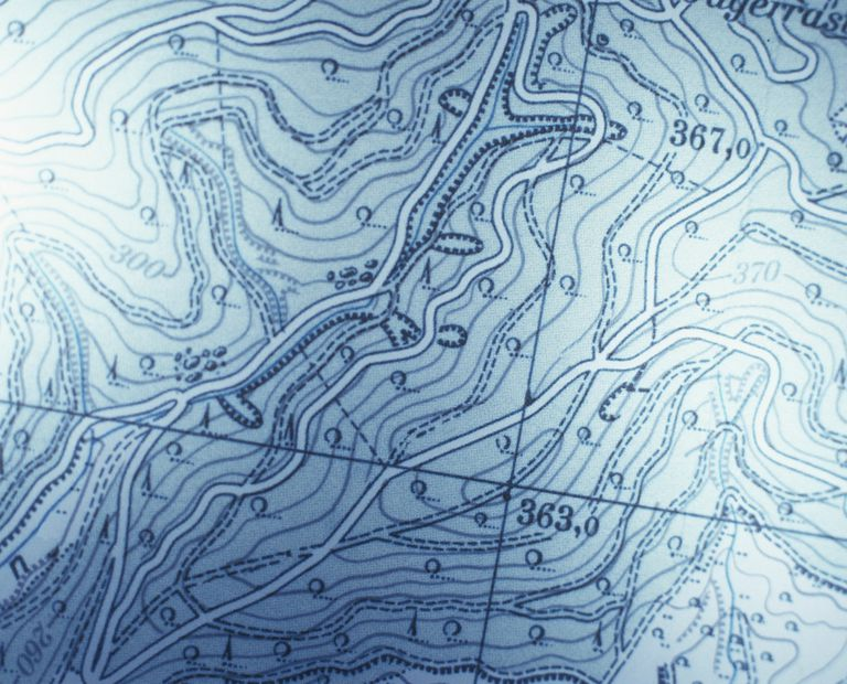 Contour Line Drawing Map : What are isolines