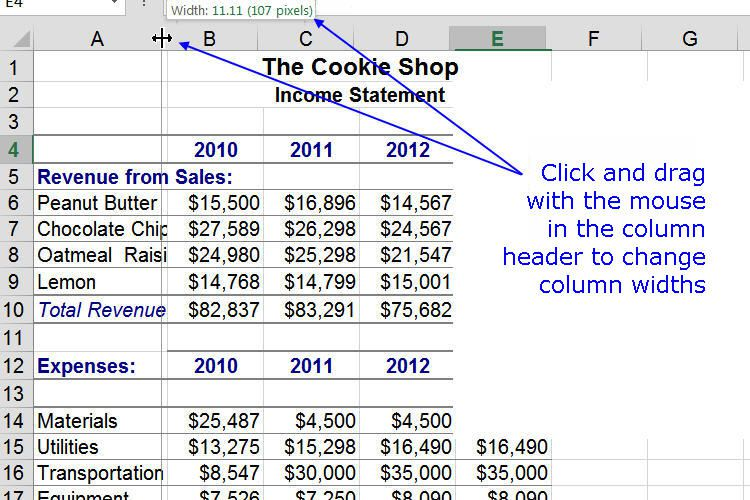 Change The Width Of Columns In Notes App For Mac