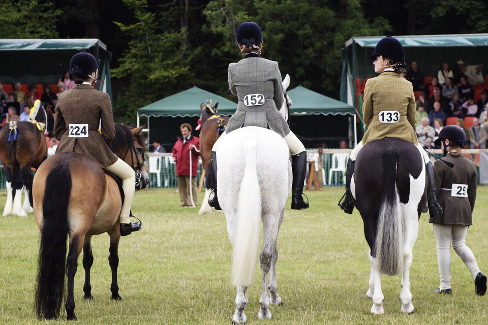 Well turned out young riders show their ponies