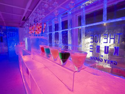 The Ice Kube bar in Paris, designed by Grey Goose.