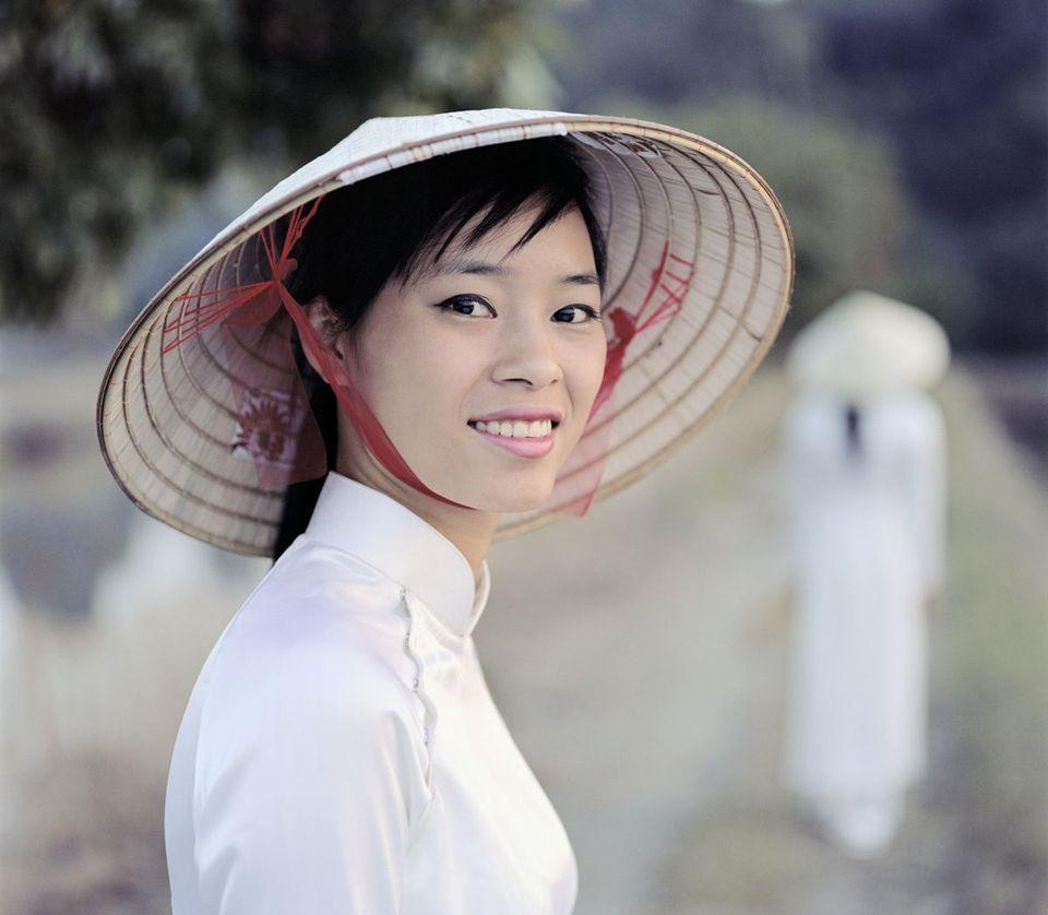 Vietnamese woman in Hanoi, Vietnam