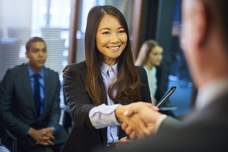 Chinese customs for meeting new people young womans job interview m4hsunfo Gallery